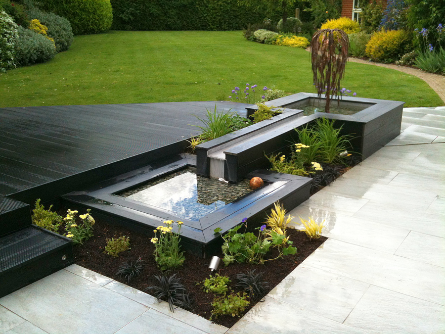 Contemporary garden pools  rill 1